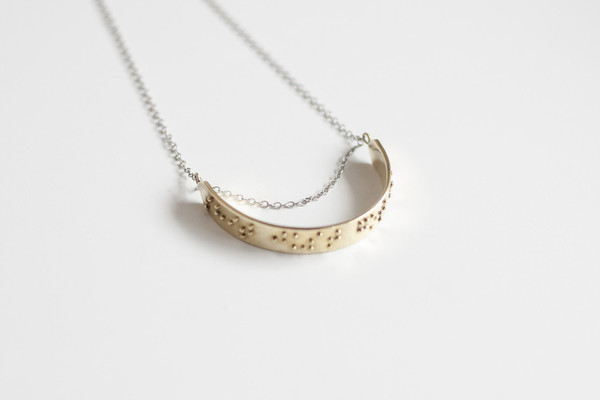 """Blayke necklace - """"Shit just got real"""""""