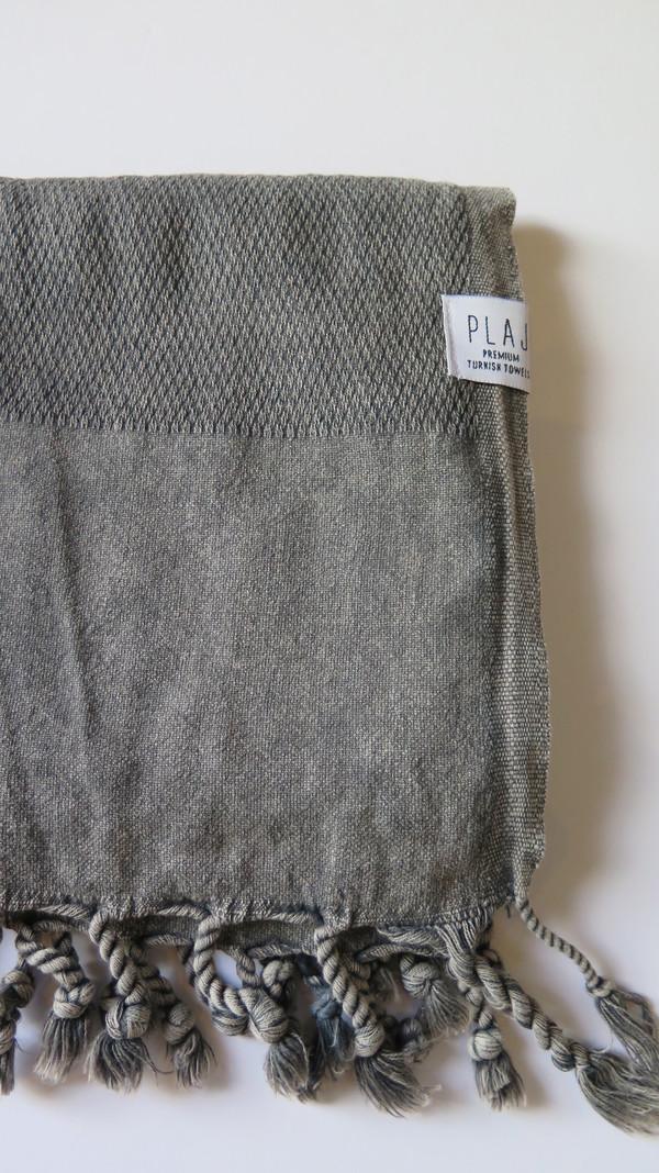Plaj Portland Stone Washed Towel- Black