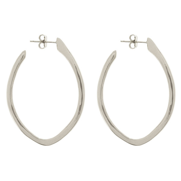 Tiffany Kunz Silver Medium Arc Earrings