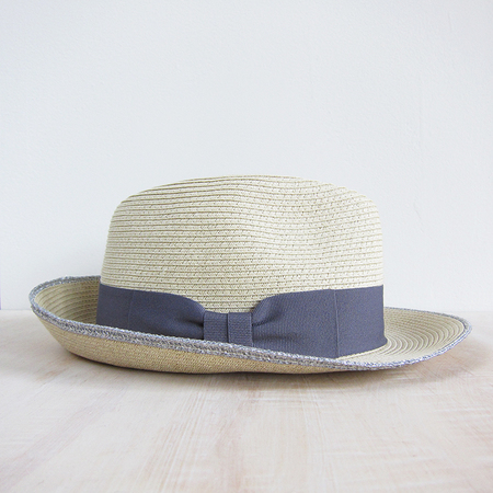 Bailey Hats refined braid fedora - natural/silver