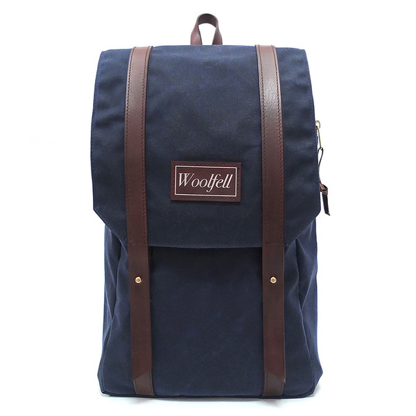 Woolfell Warrior Backpack Marine and Brown