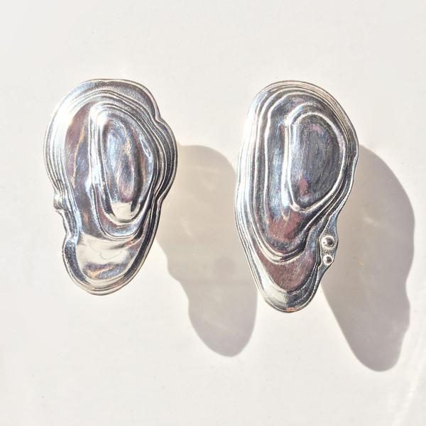 Leigh Miller Sterling Silver Ostra Earrings