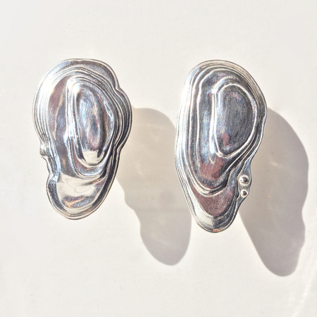 Leigh Miller Sterling Silver Ostra Earrings