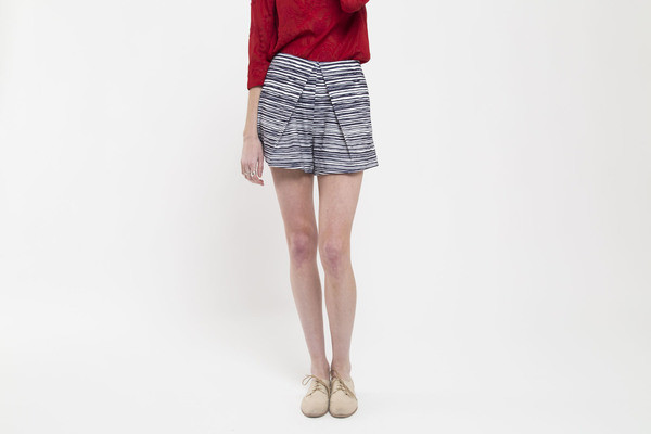 Finders Keepers Pleated Stripe Short
