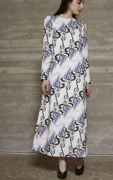 Rachel Comey Spooky Thistle Print Fervid Dress in Snow