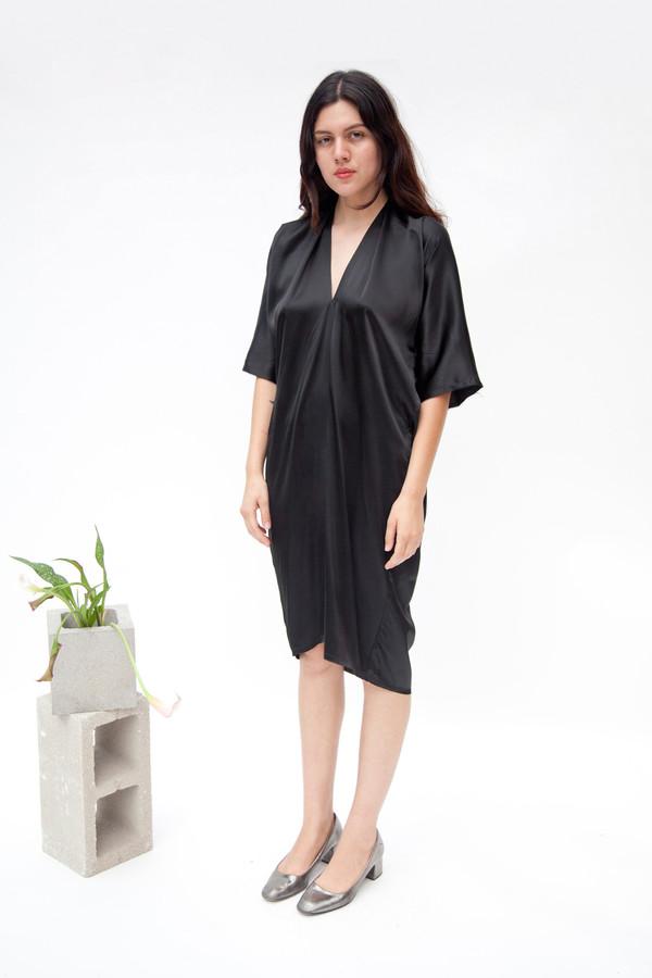 Miranda Bennett In-Stock: Muse Dress, Silk Charmeuse in Black