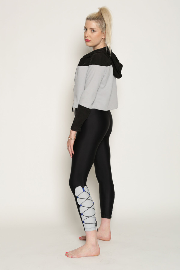 Chromat Accelerator Bungee Pant in Black/Grey