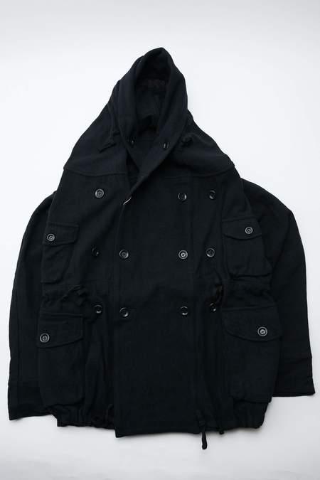 Kapital Vintage Melton Wool Ring Coat - Navy
