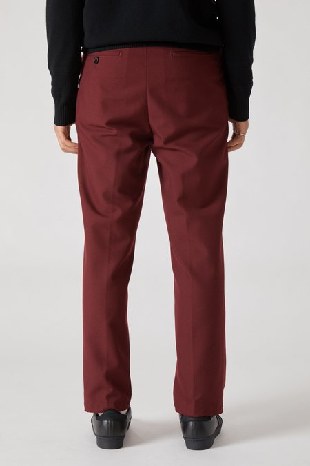 PRESIDENTS Dickens Easy Iron Wool Trouser - Bordeaux