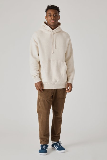 TS(S) Cotton Lyocell Double Brushed Jersey Oversized Hoody - Oatmeal