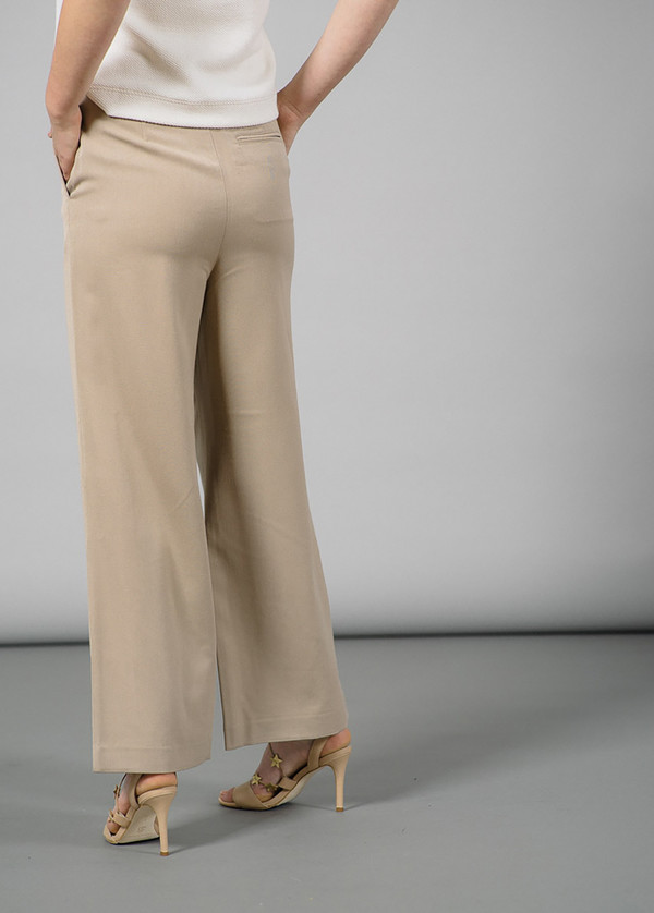 Ganni Brown Wide-Leg Tailored Pants
