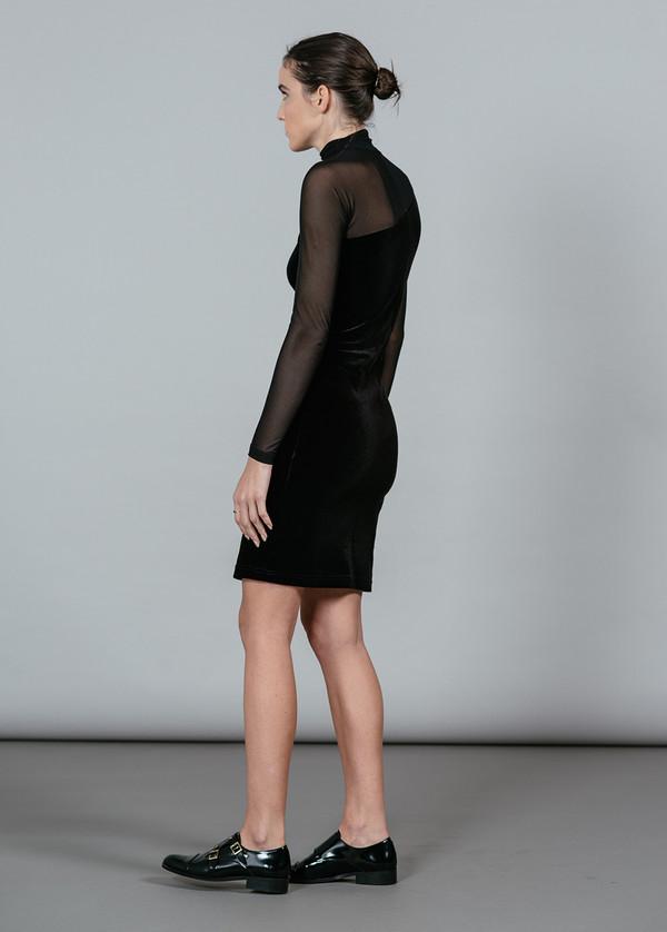 Ganni Campbell Velour L/S Dress