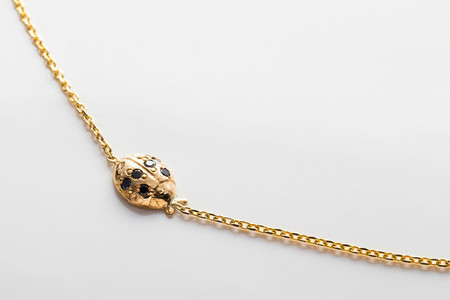 Jennie Kwon Designs Floating Diamond Ladybug Necklace