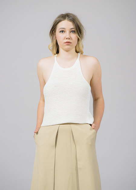 Cosette Karina Ribbed Halter Top
