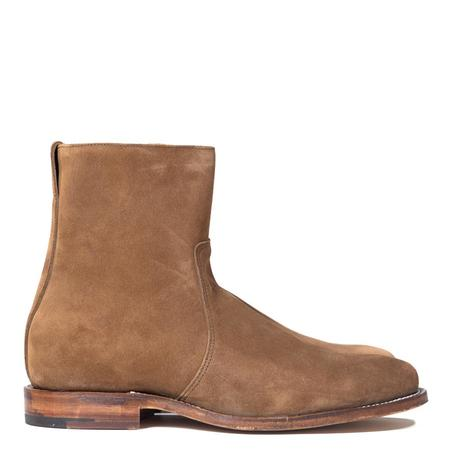 Viberg Snuff Suede Sidezip Boots