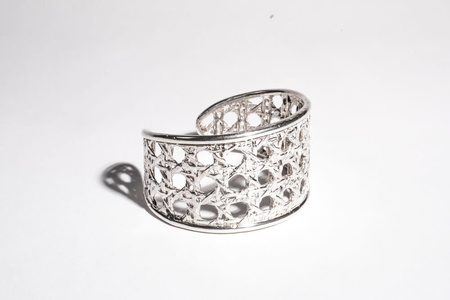 Saint Claude x Freda Small Caning Cuff Bracelet - Silver