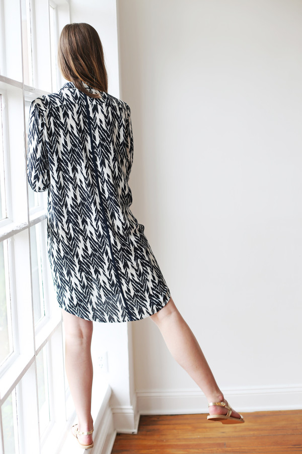 Just Female Ikat Shirt Dress