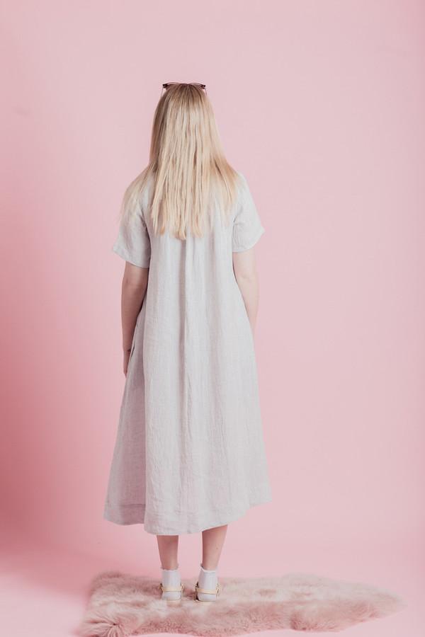 SUNJA LINK GATHERED BACK YOKE DRESS
