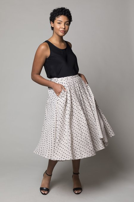 A Punto B Skirt - Milk Anthracite