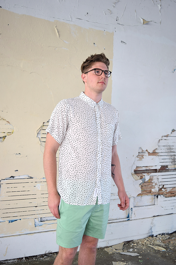 Men's Native Youth Paintbrush Polka Dot S/S Shirt