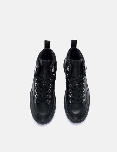 Veja Roraima Leather Trainers - Grafite Black