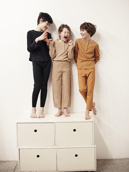 kids le petit germain Emile Knit Pant - Black Sand