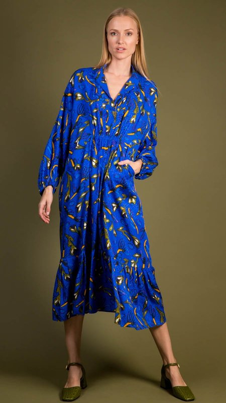Christian Wijnants Dayam Dress - Bright Blue
