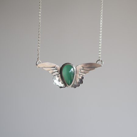 Morgaine Faye Small Harpy Necklace with Stone
