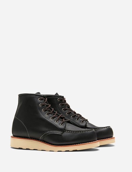 Red Wing Work Moc Toe Boots - Black Boundary