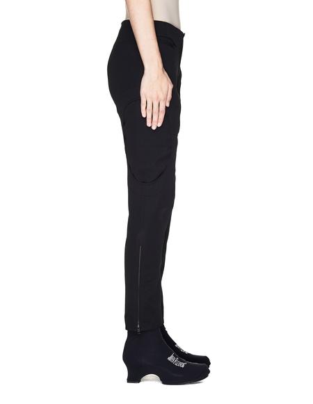 Yohji Yamamoto Black Wool Oval Cut-Out Trousers