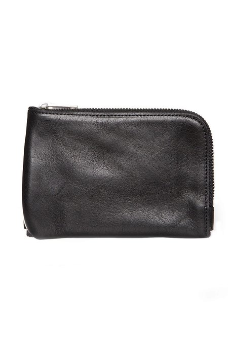 RON HERMAN Zip Pouch Wallet - Black