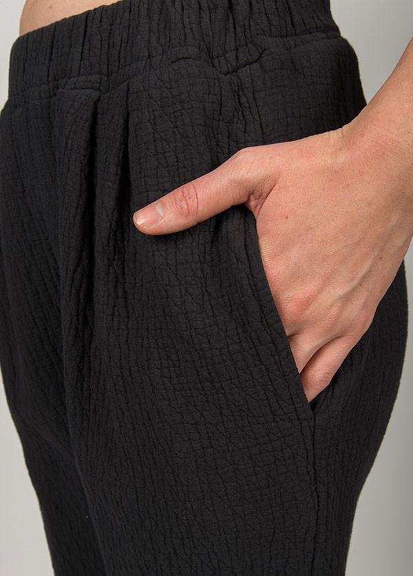 Black Crane - Quilt Pants in Black