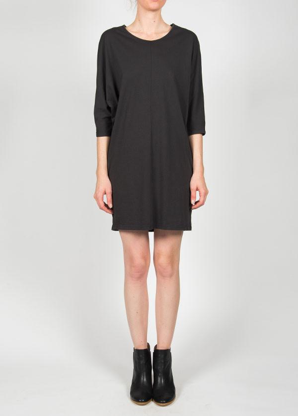 Black Crane - Wide Dress in Ebony