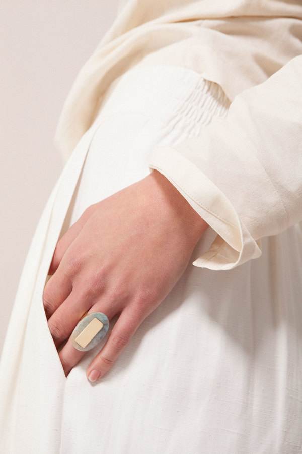 Kathleen Whitaker Oval Quartz Ring