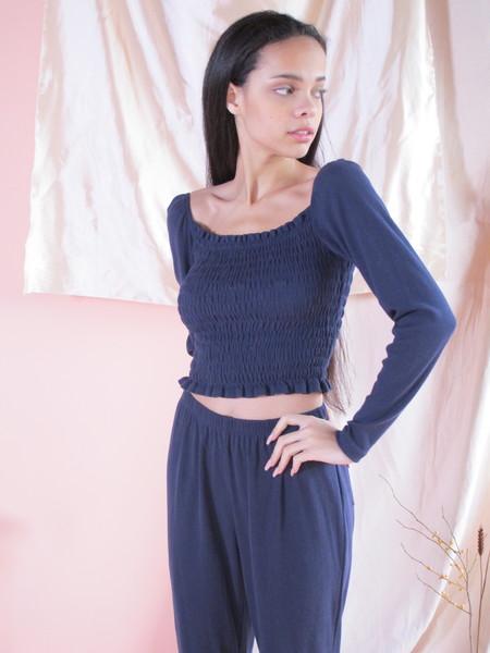 Lisa Says Gah Sophie Top Long Sleeve - Navy