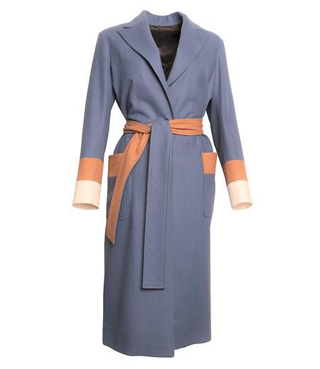 Loden Tal Oversized Boxer Coat - Light Blue
