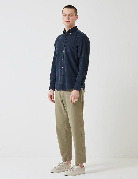 Portuguese Flannel Lobo Cord Shirt - Navy Blue