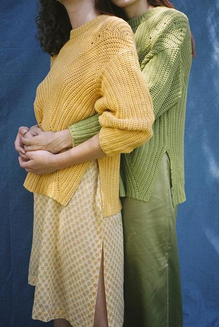 Solosix Thea Sweater - Mustard
