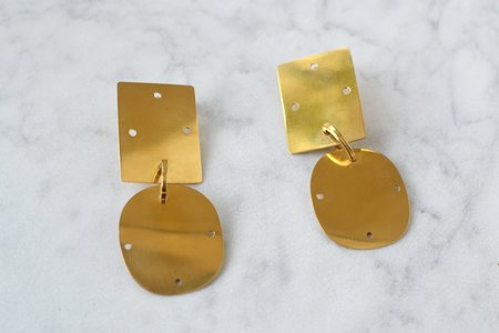 Annie Costello Brown Overt Small Earring - Gold