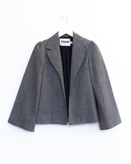 Town Clothes Regina Jacket - Anthracite Stripe
