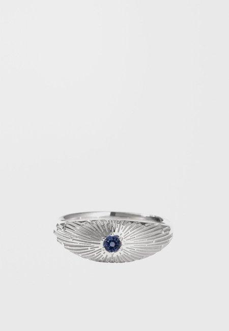 Meadowlark Inez Ring - silver/dark blue sapphire