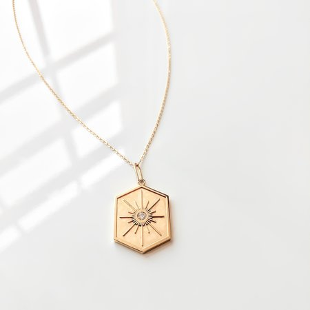 Thatch Guiding Star Necklace - 14K Gold