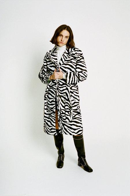 HOSBJERG Ole Coat - Zebra Print