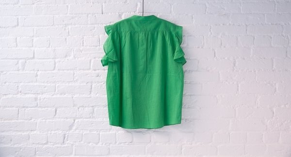 vanessa bruno athé flutter sleeve blouse