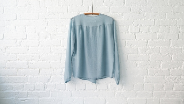 Pomandere silk and wool blend blouse