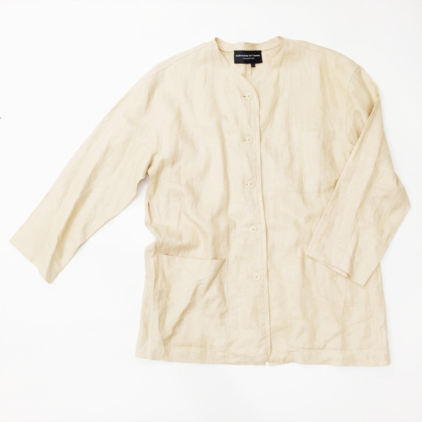 Johan Vintage Light Peach Linen Jacket