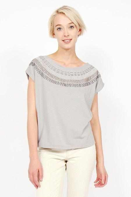 tonlé Keang Top - Grey/Sunburst