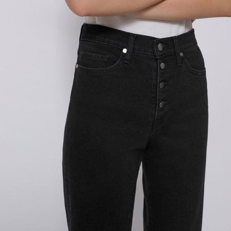 BLDWN Wide Leg Cropped Jean - Carbon Black