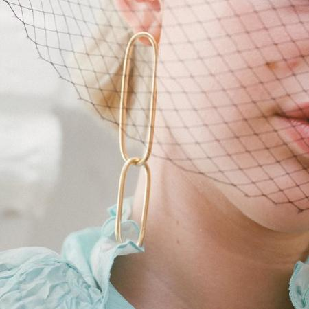 Laura Estrada Zephyr Link Earrings - Brass