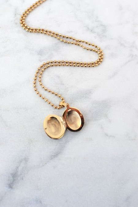 Phyllis + Rosie Locket Necklace - 14k Gold Filled